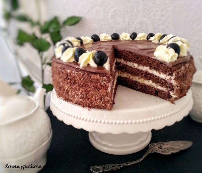 TORT CZEKOLADOWO-WIŚNIOWY