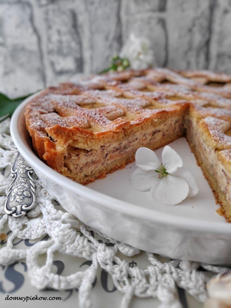 Włoska tarta z ricottą i czekoladą