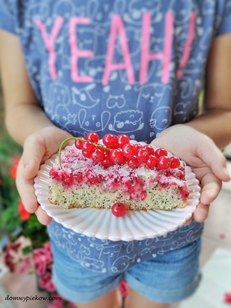 Ciasto makowo-kokosowe z-porzeczkami