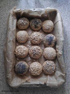 Bułki pszenno owsiane na zakwasie