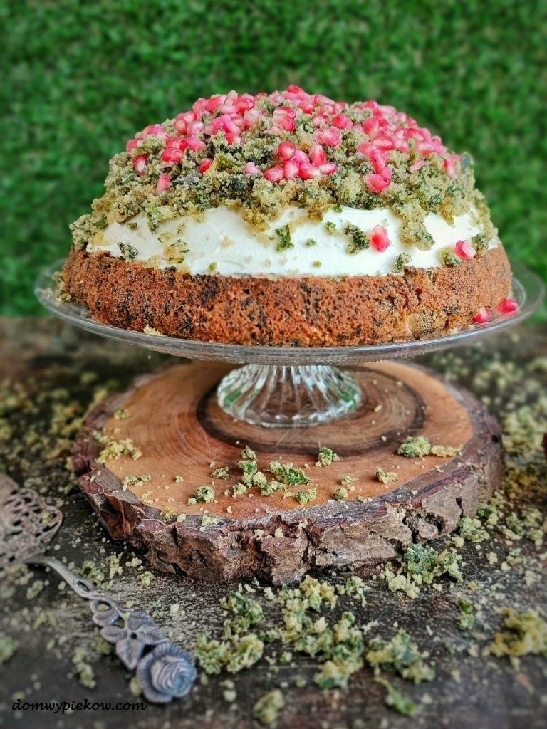 Tort szpinakowy leśny mech